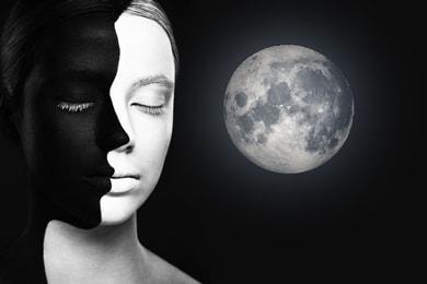 в гороскопе луна белая рождении при